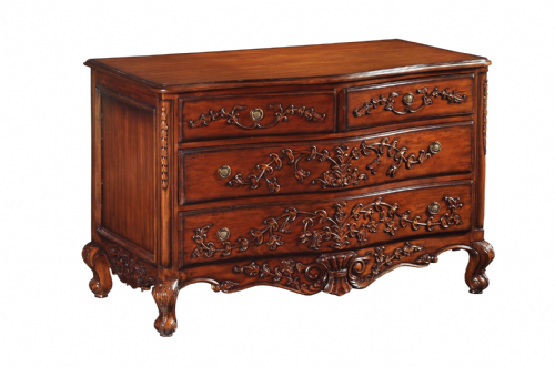 Bow Fronted Chest in Mahogany